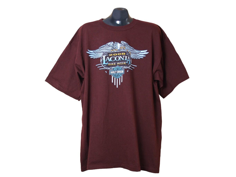 Мужская бордовая футболка большого размера HARLEY-DAVIDSON