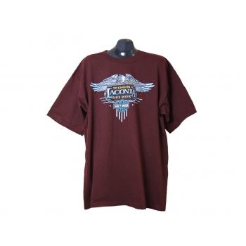 Мужская бордовая футболка HARLEY-DAVIDSON, XL