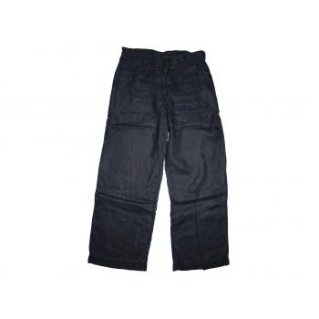 Женские черные льняные брюки H&M, М