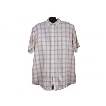 Мужская льняная рубашка в клетку WOLSEY, XXL