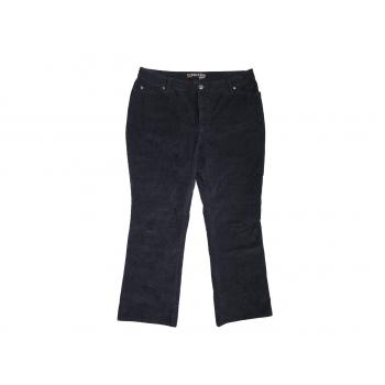 Женские черные вельветовые брюки ST.JOHN`S BAY boot cut
