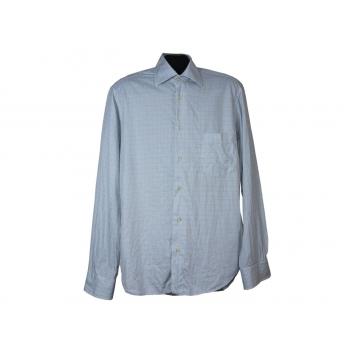 Мужская голубая рубашка в клетку ZARA