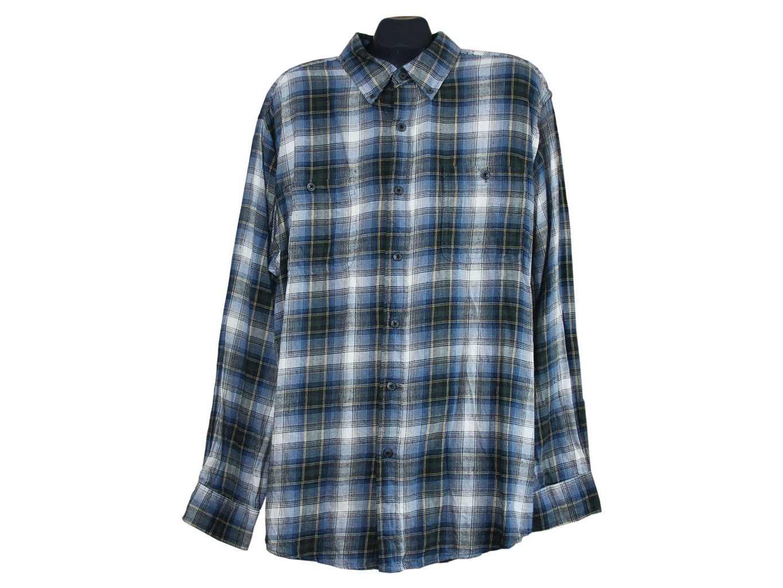 Мужская теплая рубашка в клетку CLASSIC FIT, XXL