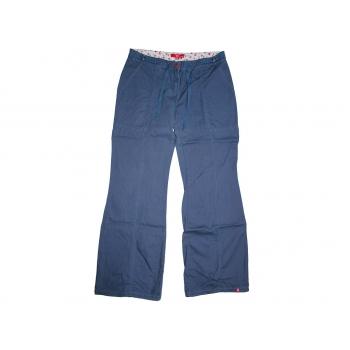 Женские синие расклешенные брюки ESPRIT