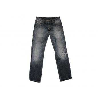 Женские серые рваные джинсы DIESEL, L