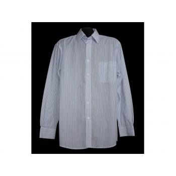Мужская белая рубашка в полоску GEORGE, L