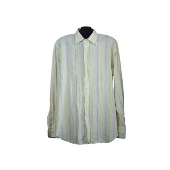 Мужская льняная рубашка в полоску BERTO LUCCI milano