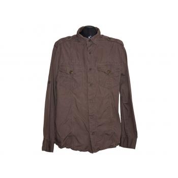Мужская коричневая рубашка NEXT, L