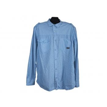 Мужская голубая рубашка в полоску CEDARWOOD STATE, L