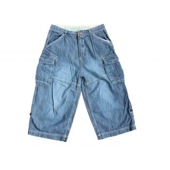 Детские джинсовые длинные шорты карго NEXT на мальчика 12-15 лет