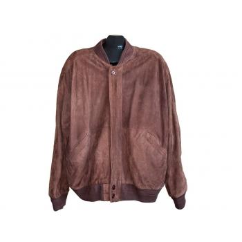 Мужская коричневая замшевая куртка, XXL