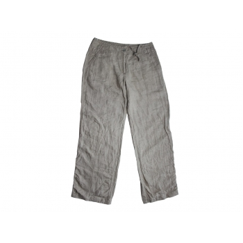 Женские серые льняные брюки SANDWICH, S