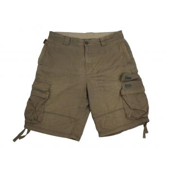 Мужские шорты цвета хаки ABERCROMBIE & FITCH CARGO W 36