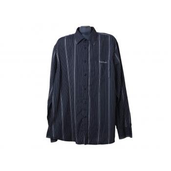 Мужская черная рубашка в полоску PIERRE CARDIN