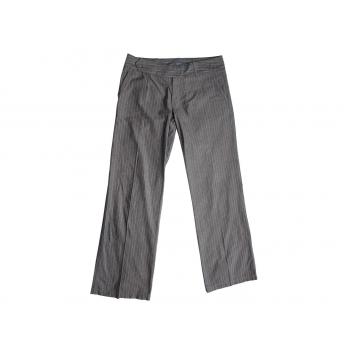 Женские серые в полоску брюки MEXX