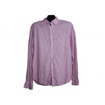 Мужская розовая льняная рубашка JOHN LEWIS, М
