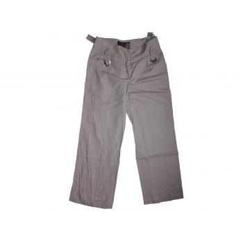 Женские серые льняные брюки NEXT
