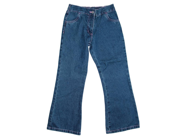 Для девочки 7-9 лет джинсы клеш GEORGE