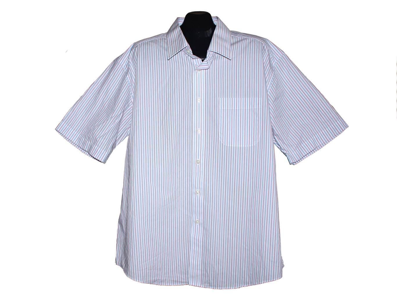 Мужская белая рубашка в полоску MARKS & SPENCER, XXL