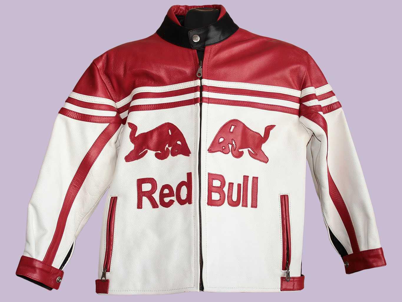 Мужская мото куртка кожаная RED BULL, M
