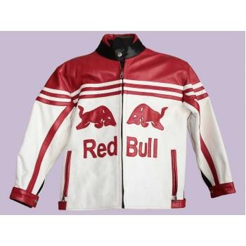 Мужская мото куртка кожаная RED BULL