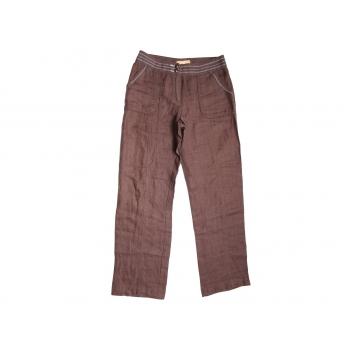 Женские коричневые льняные брюки BIBA, S