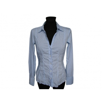 Женская голубая рубашка в полоску BENETTON, S