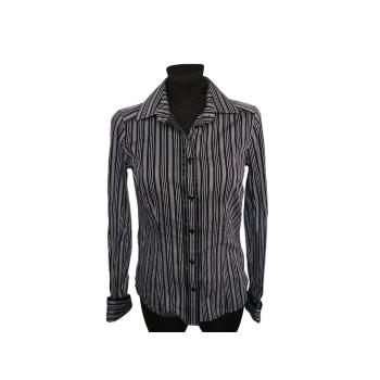 Женская черная рубашка в полоску NEXT, XS