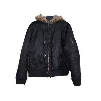 Мужская черная куртка с капюшоном BLEND