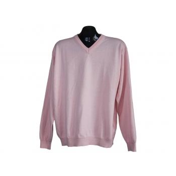 Мужской розовый шерстяной свитер GILBERTO, L